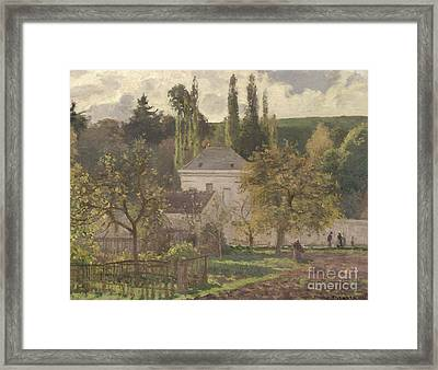 House In The Hermitage Framed Print by Camille Pissarro