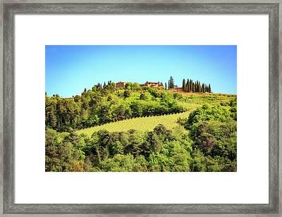 House In The Hillside Of Chianti Italy Framed Print