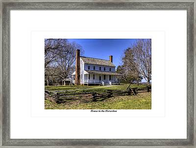 House In The Horseshoe Framed Print by Terry Spencer