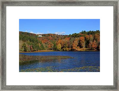 House In The Mountains Framed Print