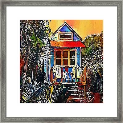 house in the woods - My WWW vikinek-art.com Framed Print by Viktor Lebeda