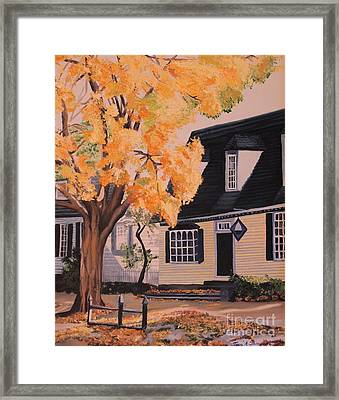 House In Williamsburg  Va Framed Print