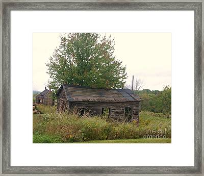 House Left Alone. Framed Print by Dennis Curry
