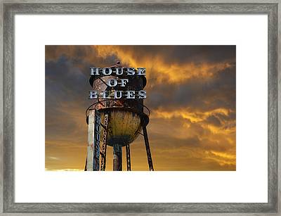 Framed Print featuring the photograph House Of Blues  by Laura Fasulo