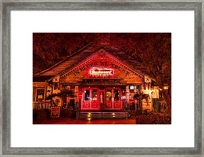 House Of Blues Framed Print by Paul Bartoszek