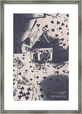 Framed Print featuring the photograph House Of Cards by Jorgo Photography - Wall Art Gallery
