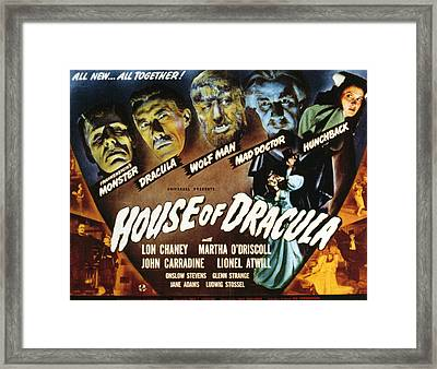 House Of Dracula, Glenn Strange, John Framed Print by Everett