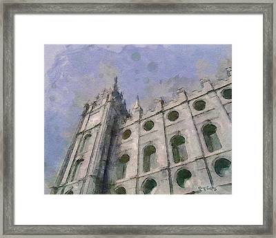 Framed Print featuring the painting House Of Faith by Greg Collins