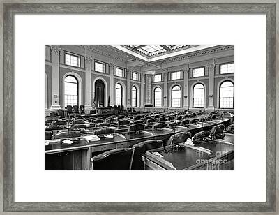 House Of Representatives Chamber Of Maine In Augusta Framed Print by Olivier Le Queinec