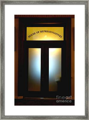 House Of Representatives Framed Print by Olivier Le Queinec