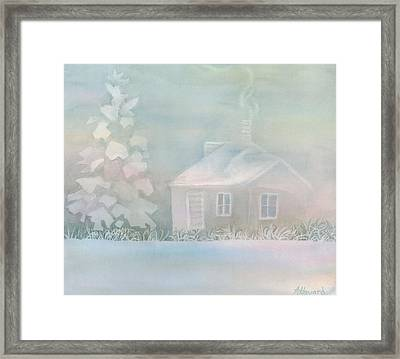 House Of Snow And Fog Framed Print by Anne Havard