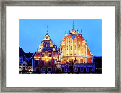 Framed Print featuring the photograph House Of The Blackheads by Fabrizio Troiani