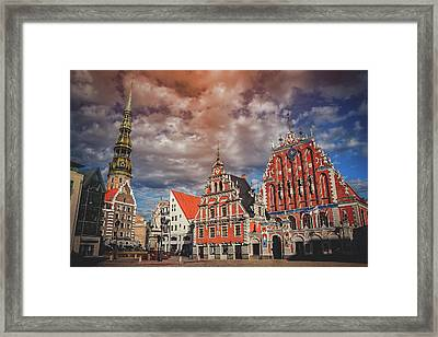 House Of The Blackheads In Riga Latvia  Framed Print