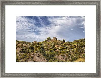 House On A Hill Framed Print by Georgia Fowler