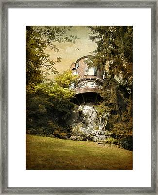 House On A Hill Framed Print