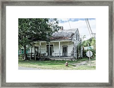 House On Chetimaches Street Framed Print by Kathleen K Parker