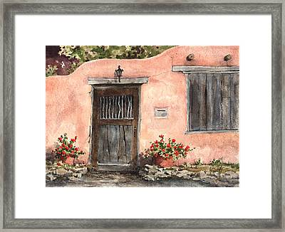 House On Delgado Street Framed Print
