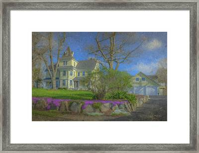 House On Elm St., Easton, Ma Framed Print