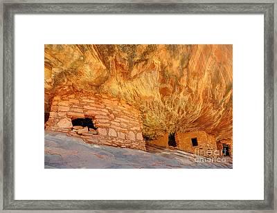 House On Fire Anasazi Indian Ruins Framed Print