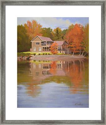 House On Gauguin Framed Print by Todd Baxter