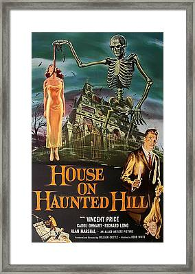 House On Haunted Hill 1958 Framed Print by Mountain Dreams