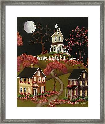House On Haunted Hill Framed Print by Catherine Holman