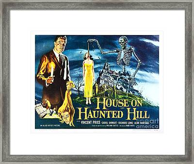 House On Haunted Hill Poster Classic Horror Movie  Framed Print