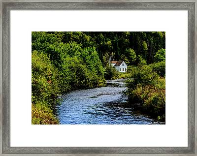 House On Margaree River Framed Print by Ken Morris