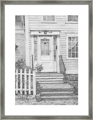 House On Nicollet Island Framed Print by Sue Olson