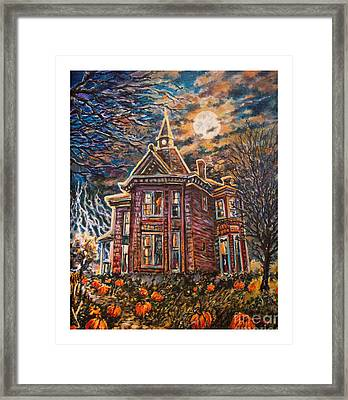 House On Pumpkin Hill Framed Print by William Vanya
