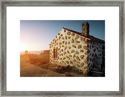 House On The Cliff Framed Print