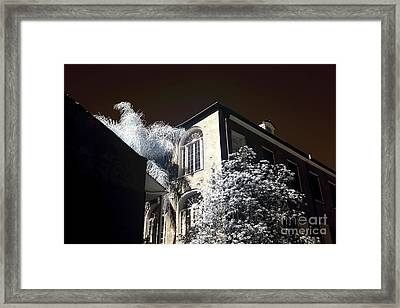 House On The Corner Infrared Framed Print by John Rizzuto