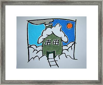 House On The Edge Of Town Framed Print by Pat  Lackenbauer