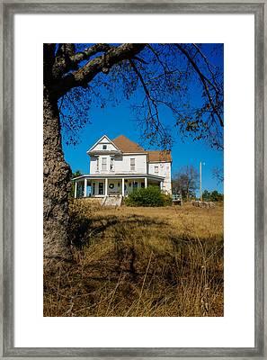 House On The Hill Framed Print by Douglas Barnett