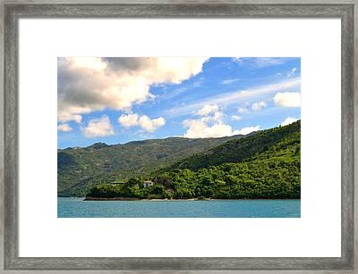 House On The Hill In Haiti Framed Print
