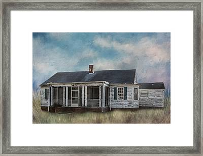 Framed Print featuring the photograph House On The Hill by Kim Hojnacki