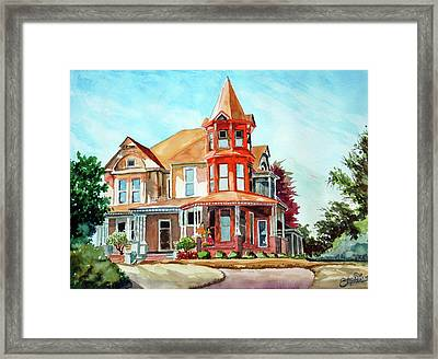 House On The Hill Framed Print by Ron Stephens