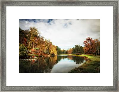 House On The Lake II Framed Print