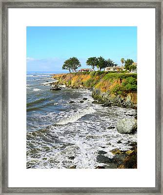 Framed Print featuring the photograph House On The Point Cayucos California by Barbara Snyder