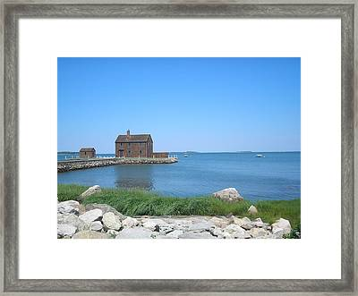 House On The Point Framed Print by Valerie Bruno