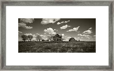 House On The Prairie Framed Print by Patrick Ziegler