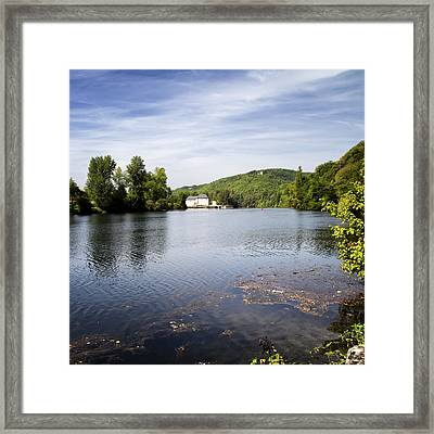 House On The River Bend - South West France Framed Print
