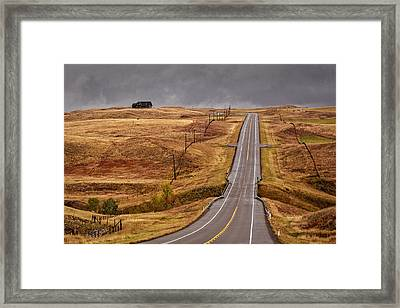 House On Thr Hilltop Framed Print
