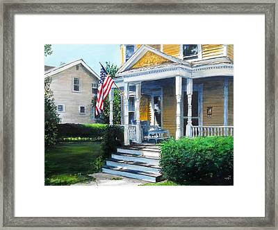 House On Washington Street Framed Print