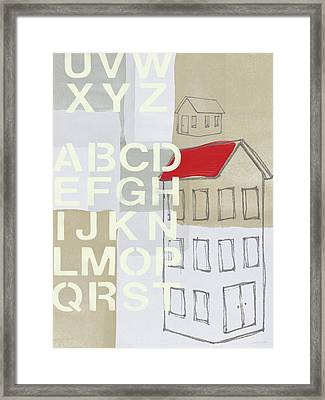 House Plans- Art By Linda Woods Framed Print