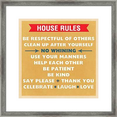 House Rules Framed Print
