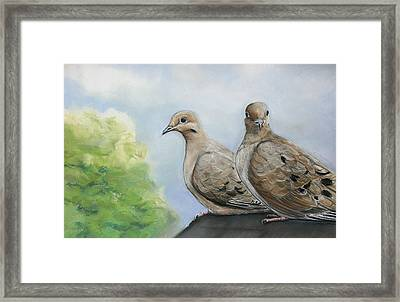 House Sitters Framed Print by Charlotte Yealey