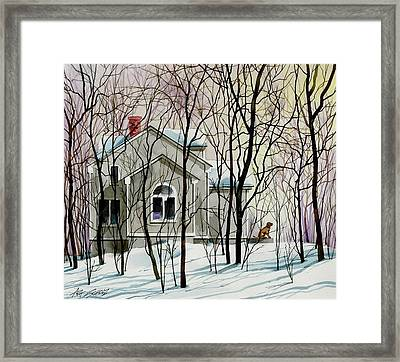 House Sitting Framed Print by Art Scholz