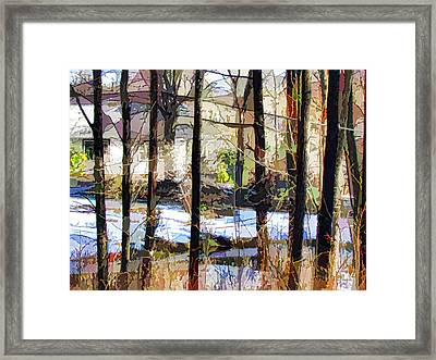 House Surrounded By Trees 2 Framed Print by Lanjee Chee