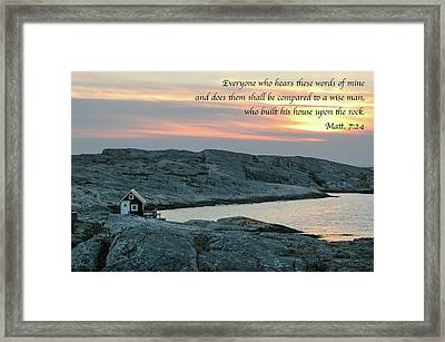 House Upon The Rock Framed Print by Mary Lee Dereske